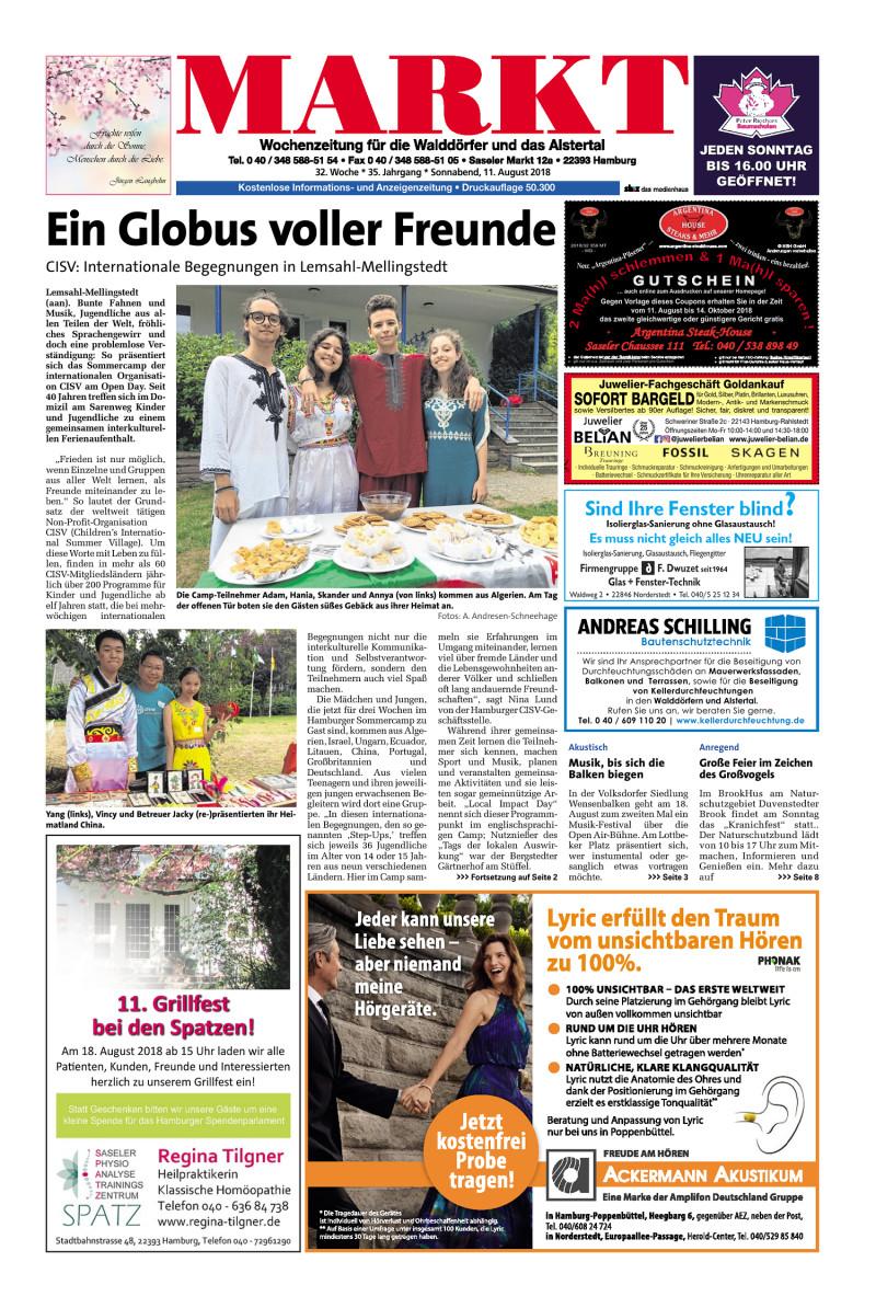 Wochenzeitung Für Die Walddörfer Und Das Alstertal 11082018