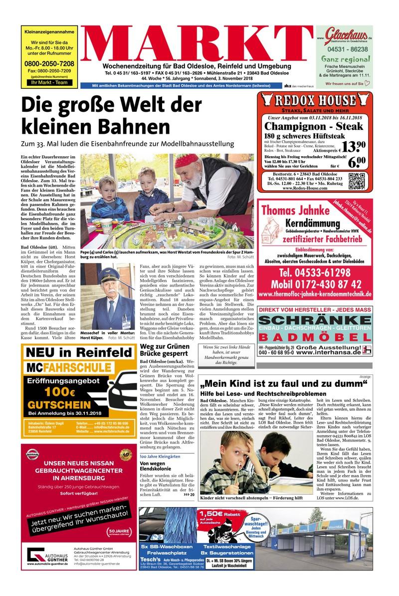 Wochenendzeitung Für Bad Oldesloe Reinfeld Und Umgebung 03112018