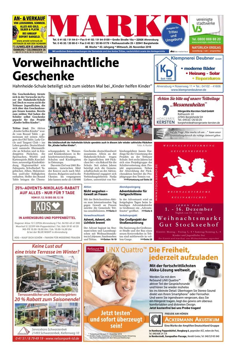 Ausgabe für Trittau und Umgebung - 28.11.2018