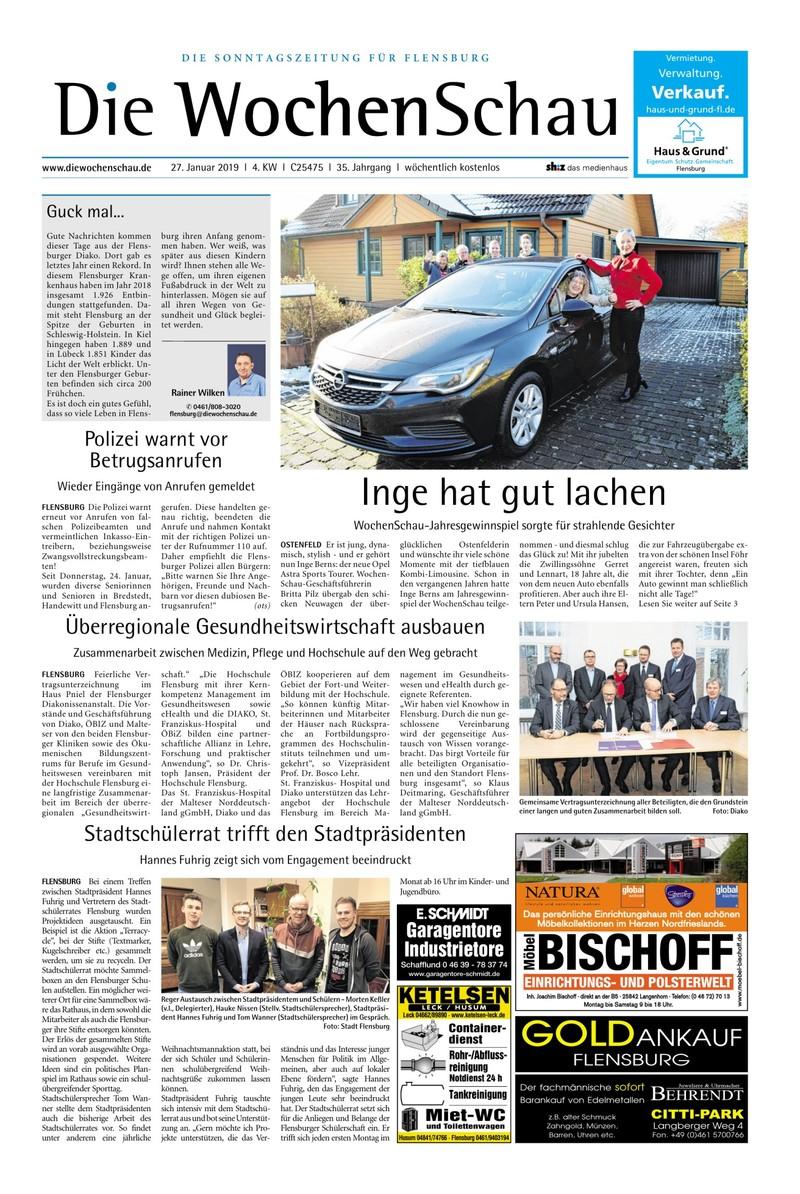 wochenschau flensburg - 26.01.2019